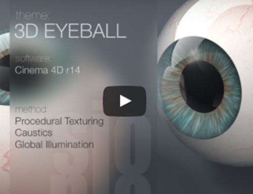 Cinema 4D Tutorial-Model and Texture a 3D Eyeball