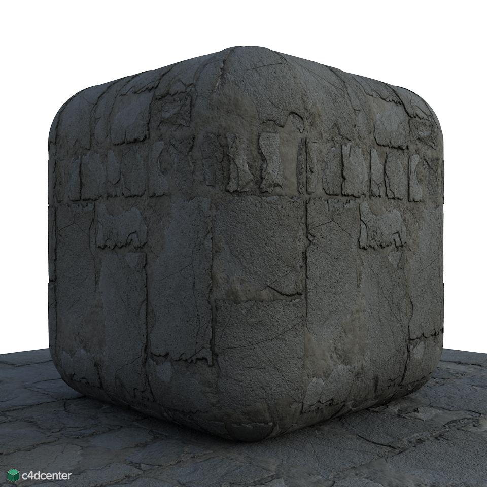 Dirty Random Brick Ground-C4D Material - C4DCenter